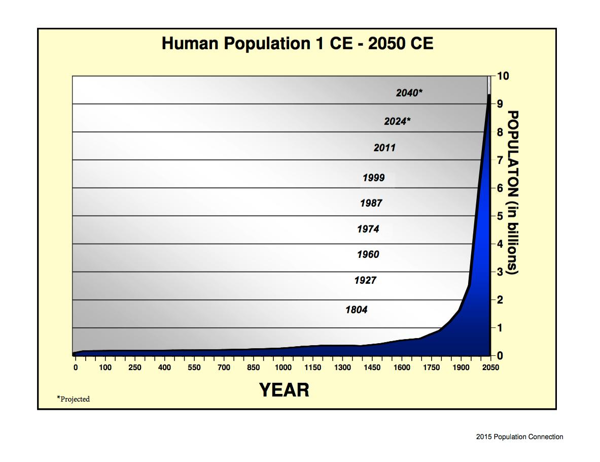 proiezione numeri della popolazione mondiale